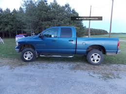 100 Blue Dodge Truck 2003 Ram 2500 4x4 4 Door Diesel