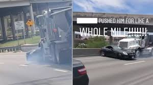 VIDEO: Man Captures Big Rig Pushing Mercedes Down Texas Freeway