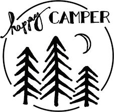 Happy Camper Stencil For Freezer Paper