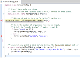 Eclipse Editor Highlighting Syntax Errors