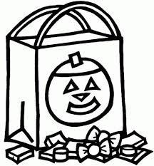 Halloween Candy Coloring Pages