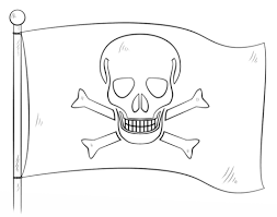 Jolly Roger Pirate Flag Coloring Page
