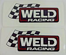 Pair Of 2 Greg Weld 35 Inch Drag Racing Decals Custom Wheels Hot Rod Stickers