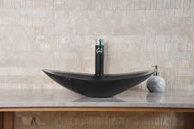 vasque en ovale zara marbre noir indoor by