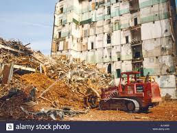 Building Site Demolition Truck Stock Photo: 14594001 - Alamy