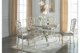 Shollyn Silver Round 5 Pc. Dining Room Set + FREE SHIPPING! | Marjen ... Sofia Imaestri Marseille Transitional Upholstered Seat And Back Ding Side Chair By Steve Silver At Wayside Fniture Shollyn Uph 4cn Colette Velvet Violet Grey Silver Ding Room Hollywood Homes Elegant Exquisite Workmanship Series Room Round Tabelegant Table And Chairsbf0104009 Buy Setantique 25 Gray Ideas Bella 5piece Kitchen Set Silverlight Grey Chairs New Fascating Black Sets Vergara Paris 5 Pc 1958 Glam Elegance Del Sol Home Bevelle 18 Inch Leaf