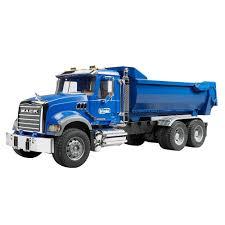 100 Blue Dump Truck Bruder Toys Kids Toy 116 Model Replica Mack Granite Halfpipe