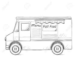 Hand Drawn Food Truck. Delivery Service Sketch Royalty Free ... Delivery Car Vector Icon Truck Service Portland Oak Fniture Warehouseoak Warehouse Cargo And Logo Stock Image Delivery With Warehouse Service Icon Boston To New York Freight Trucking Company Hand Drawn Truck Logistics Transport Van Fast Western Cascade 2005 Ford E350 Utility Work Box The Images Collection Of Photo Avopixcom Hand
