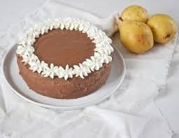 birnen schokomousse torte