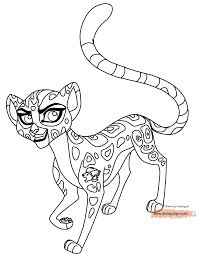 Lion Guard Coloring Pages Cheetah Fuli
