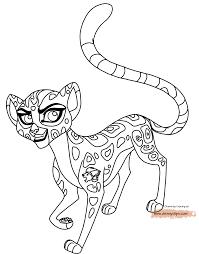 Lion Guard Coloring Pages Cheetah Fuli