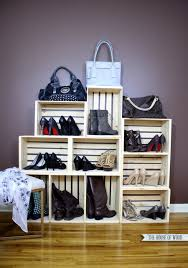 easy shoe storage display the house of wood