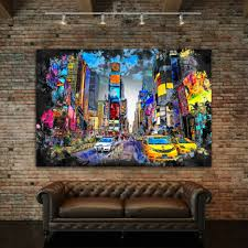 leinwand bild new york times square abstrakt kunstdruck wand