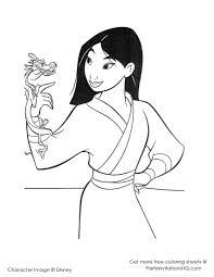 Mulan Disney Coloring Page
