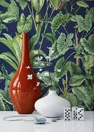 newroom vliestapete blumentapete grün blau wallpaper floral blumen tapete dschungel natur pflanzen wohnzimmer schlafzimmer büro flur kaufen