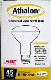 45w r20 shatter resistant safety coated small flood light bulb
