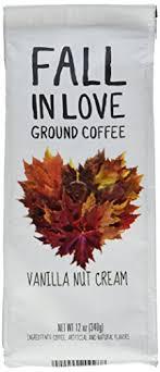 Fall In Love Flavored 12 Oz Ground Coffee Vanilla Nut Cream