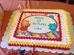 Daniel Tiger cake Got a Costco cake & bought the figurines from