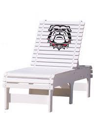 Outdoor Patio Chaise Lounge - Georgia Bulldogs
