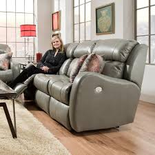 Southern Motion Power Reclining Sofa by Double Reclining Sofa With Power Headrests And Pillows By Southern