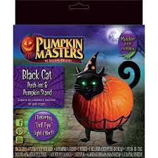Pumpkin Push Ins by Pumpkin Masters Black Cat Push Ins U0026 Pumpkin Stand Walmart Com