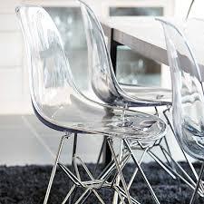 esszimmerstühle aus acrylglas für moderne