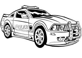 Police Car Coloring Pages For Boys