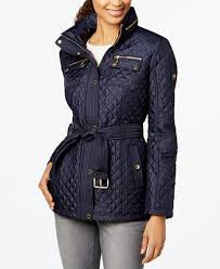 MICHAEL Michael Kors Hooded Belted Quilted Coat Coats Women