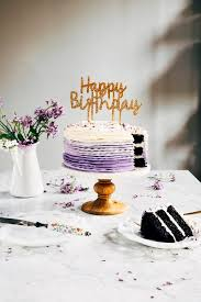 15 Chocolate Cake With Lavender Ruffled Frosting