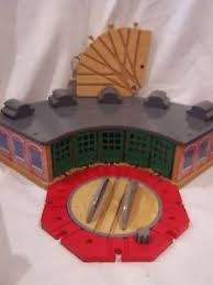 thomas friends wooden train railway tidmouth sheds roundhouse