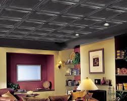 Black Drop Ceiling Tiles 2x2 by Painting Drop Ceiling Tiles Black Home Design Ideas