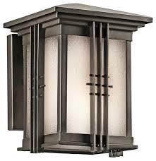 kichler portman square outdoor wall mount light fixture