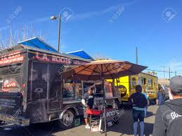 PHOENIX, AZ - FEBRUARY 5, 2016: People Checking L.A. Roots Latin ... Go For The Food Food Trucks Hit Phoenix Fox News Froth Coffee And Tap Truck Electric Sliders Home West Man Making Dreams Come True With Truck Designs Catering Alternative Frenzy Modern Vintage Events Catches Fire In The Gorilla Cheese Trucks Roaming Hunger Scottsdale Street Eats Festival Friday 28 September Rounders Ice Cream Sandwiches Friday Fanatic Lady Las Mahalo Made Announces New Lociondates For Next Stop
