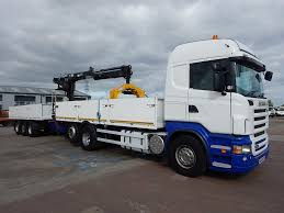 100 Bricks Truck Sales SCANIA R420 HIGHLINE 6 X 2 DRAWBAR BRICKCRANE AND TRAILER 2008