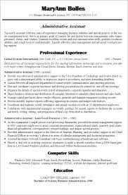 Powerpoint Resume Templates Free Administrative Assistant Objective Examples Of Resumes Objectives Ob