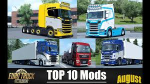 ✅ TOP 10 MODS For Euro Truck Simulator 2 – August 2018 | Euro Truck ...