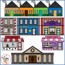 munity Buildings Clip Art for Digital & Paper Resources