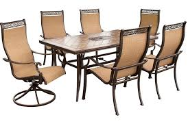 7 Piece Patio Dining Set by Hanover Monaco7pcsw Monaco 7 Piece Outdoor Dining Set 4 Dinning