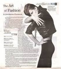 Art Of Fashion Article In Frederick News Post Photography Blog B