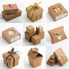 Natural Rustic Kraft Shabby Chic Wedding Favour Gift Boxes