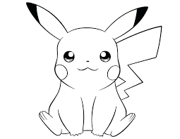 Coloring Pages Pikachu Page Pokemon Free