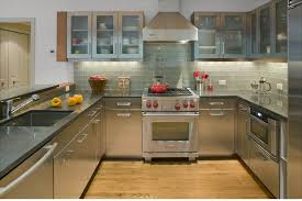 clear glass tile backsplash kitchen contemporary with frosted