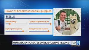 MSU Student Creates 'dating Resume' - YouTube