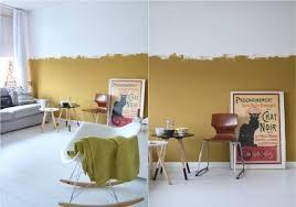 farbe ocker kombinieren goldocker wandgestaltung halbhoch