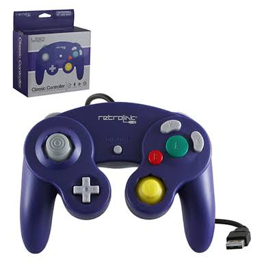 Retrolink RB-PC-739 Gamecube Style Wired USB Controller for PC & Mac - Purple