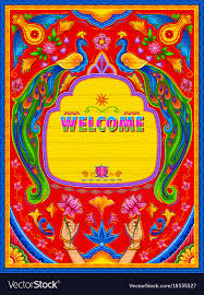 100 Truck Art Colorful Welcome Banner In Truck Art Kitsch Style Vector Image