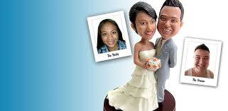 Custom Bobblehead Wedding Cake Toppers Send in a picture and they
