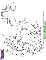 Unicorn And Rainbow Coloring Pages