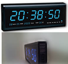Contemporary Decoration Led Digital Wall Clock The Lowest Prices Of Entire Network Aluminum Large LED