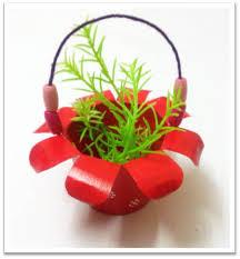 Paper Cup Basket Simple Tutorial Art Platter